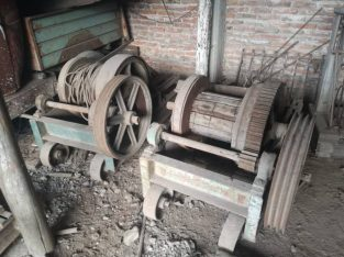 Guinches de obra para 1500 kg. Motor (va aparte) 10 HP