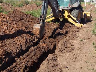 Retro-pala-excavadora John Deere