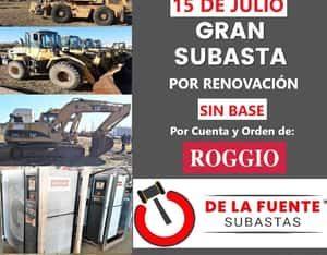 Subasta por renovación de activos. Grupo Roggio. Sin base