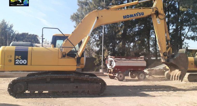 Excavadora sobre orugas Komatsu PC200 LC -7