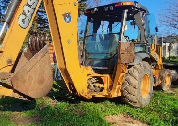 Pala y retro Case 580n